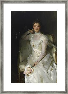 Mrs Joshua Montgomery Sears Framed Print by John Singer Sargent