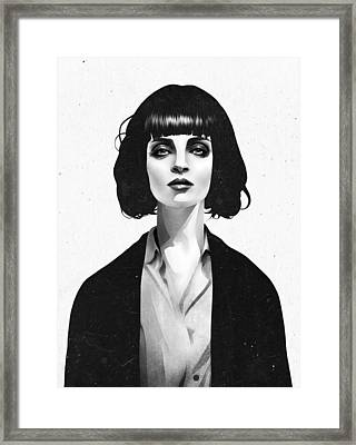 Mrs Mia Wallace Framed Print by Ruben Ireland