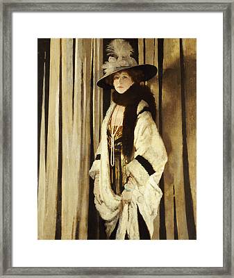 Mrs St George Framed Print by Sir William Orpen