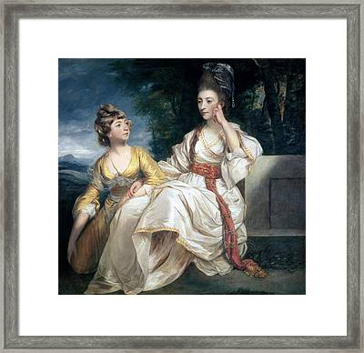 Mrs Thrale And Her Daughter Hester Framed Print by Sir Joshua Reynolds