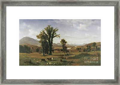 Mt. Ascutney From Claremont, New Hampshire Framed Print by Albert Bierstadt