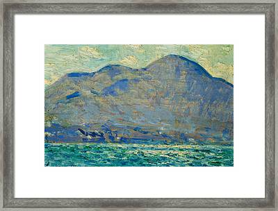 Mt. Beacon At Newburgh Framed Print by Childe Hassam
