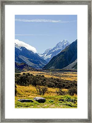 Mt Cook New Zealand Framed Print by Bill  Robinson