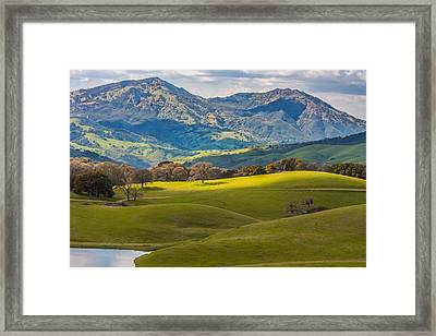 Mt. Diablo On A Spring Afternoon Framed Print by Marc Crumpler