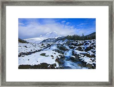 Mt. Hood Morning Framed Print by Mike  Dawson