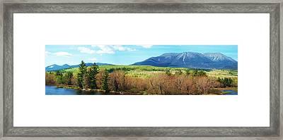 Mt Katahdin From Abol Bridge Framed Print by Tim  Canwell