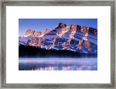 Mt Rundle Framed Print by Ginevre Smith