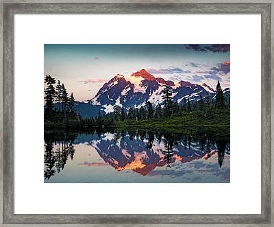 Mt. Shuksan Washington Northern Cascades Framed Print by Brendan Reals