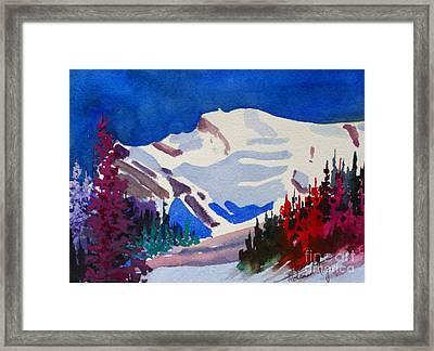 Mt. Wilson Framed Print by Mohamed Hirji