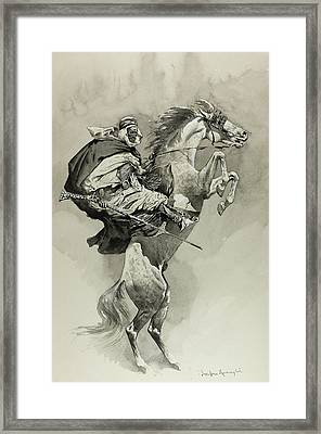 Mubarek The Arabian Chief Framed Print by Frederic Remington