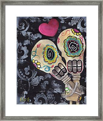 Muertos De Amor Framed Print by  Abril Andrade Griffith