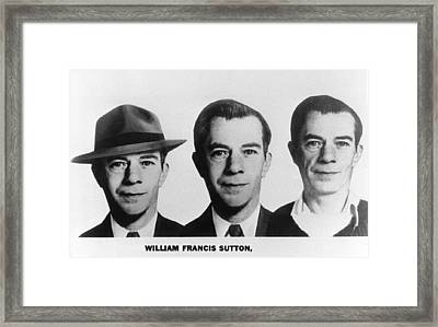 Mug Shots Of Willie Sutton 1901-1980 Framed Print by Everett