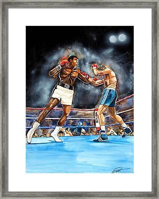 Muhammad Ali Framed Print by Dave Olsen