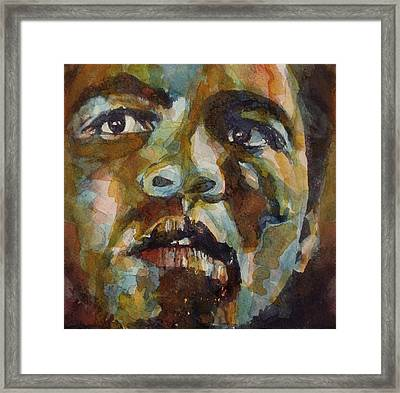 Muhammad Ali   Framed Print by Paul Lovering