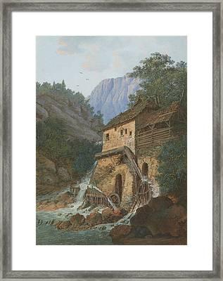 Muhle Montreux Framed Print by Louis Albert Guislain Bacler d'Albe