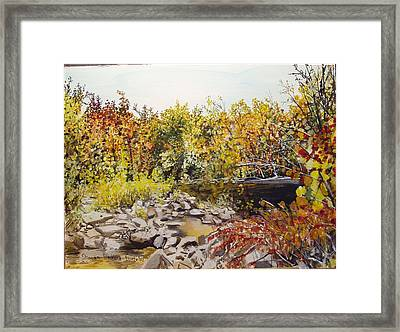 Mulberry River In Fall Another View Framed Print by Sharon  De Vore