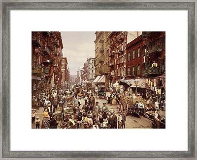 Mulberry Street, New York City Framed Print by Everett