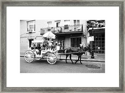 Mule And Buggy French Quarter New Orleans Framed Print by Thomas R Fletcher