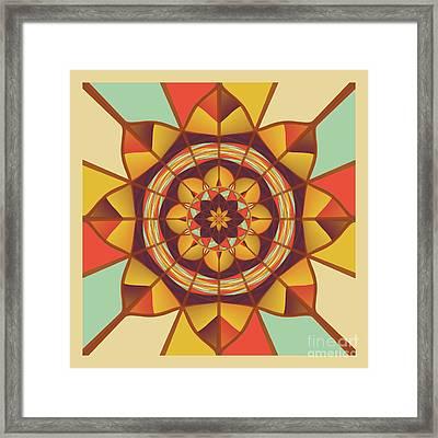 Multicolored Geometric Flourish Framed Print by Gaspar Avila