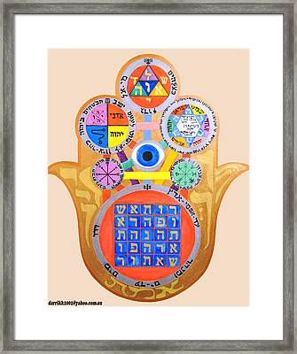 Multiple Solomaic Amulets Framed Print by Darren Stein