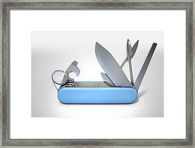 Multipurpose Penknife Framed Print by Allan Swart
