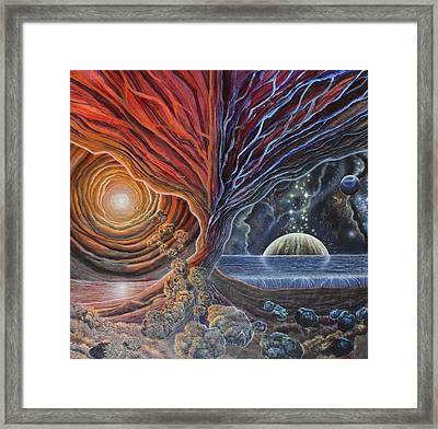 Multiverse 3 Framed Print by Sam Del Russi
