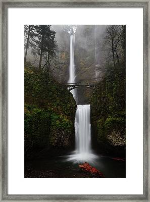 Multnomah Fall Framed Print by Helminadia