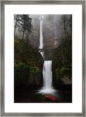 Multnomah Fall Framed Print by Helminadia