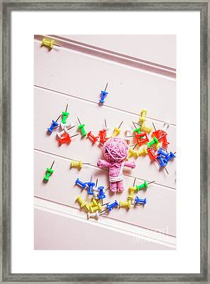 Mummy Halloween Voodoo Doll Framed Print by Jorgo Photography - Wall Art Gallery