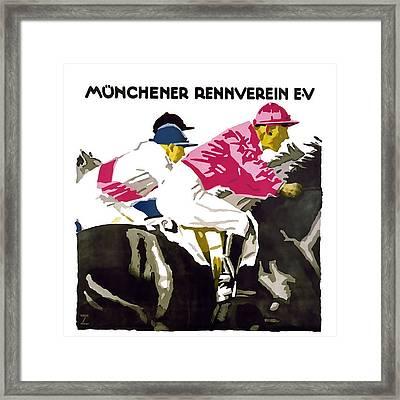 Munchener Rennverein E-v Framed Print by David Wagner