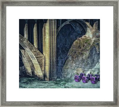 Munroe Street Bridge Framed Print by Dennis Herzog