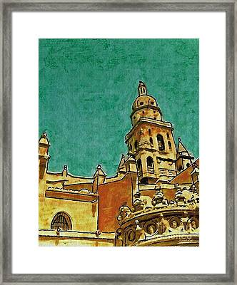 Murcia Cathedral Framed Print by Sarah Loft