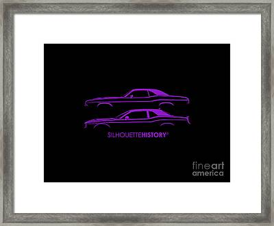 Muscle Pony Silhouettehistory Framed Print by Gabor Vida