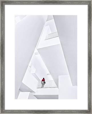 Museu Da??art Contemporani De Barcelona Framed Print by Herbert A. Franke