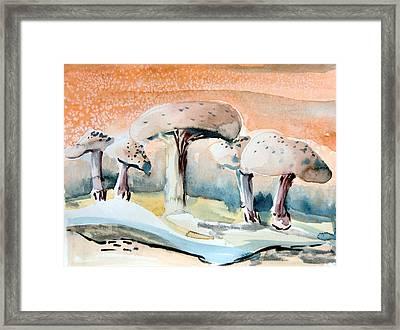 Mushroom Heaven Framed Print by Mindy Newman