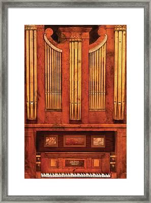 Music - Organist - Skippack  Ville Organ - 1835 Framed Print by Mike Savad