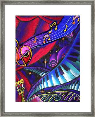 Music And Harmony Framed Print by Leon Zernitsky
