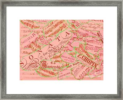 Music Collage No. 6 Framed Print by Sara Adams