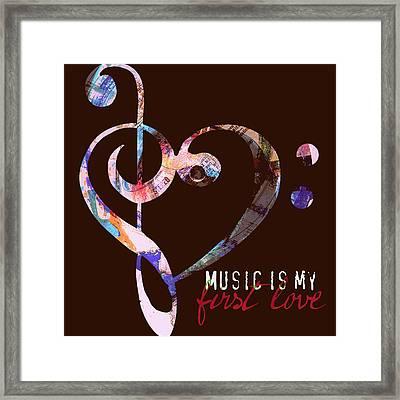 Music Is My First Love V2 Framed Print by Brandi Fitzgerald
