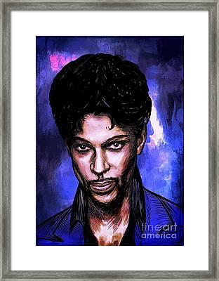 Music Legend  Prince Framed Print by Andrzej Szczerski