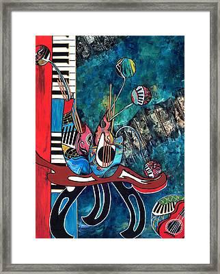 Music Mania Framed Print by Cheryl Ehlers