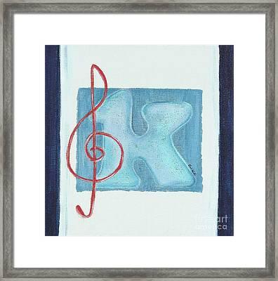 Music Note Framed Print by Celebratta Celebratta