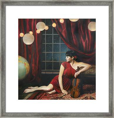 Music Of The Spheres Framed Print by Anna Rose Bain