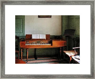 Music Room With Piano Framed Print by Susan Savad