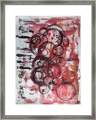 Music Spheres Framed Print by Dorota Zukowska