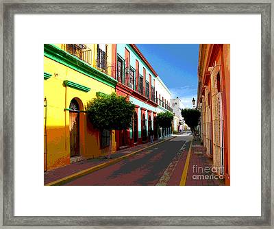 Music Street By Darian Day Framed Print by Mexicolors Art Photography