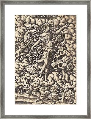 Musica Framed Print by Virgil Solis or Virgilius Solis