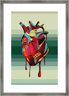 Musical Heart  Framed Print by Kenal Louis