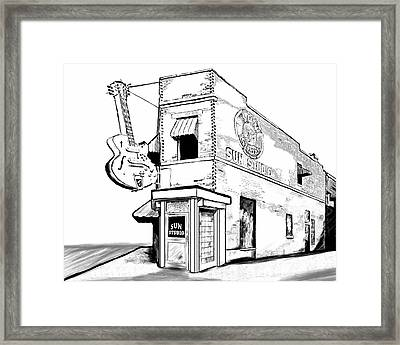Musical History Of Memphis Framed Print by Mark Tisdale