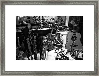 Musical Instruments In Salzburg Framed Print by John Rizzuto